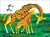 Oopsy Daisy Fine Art For Kids Eric Carle's Giraffe Mother Wall Art, 24 by 18