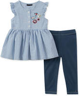 Tommy Hilfiger 2-Pc. Striped Tunic & Leggings Set, Baby Girls
