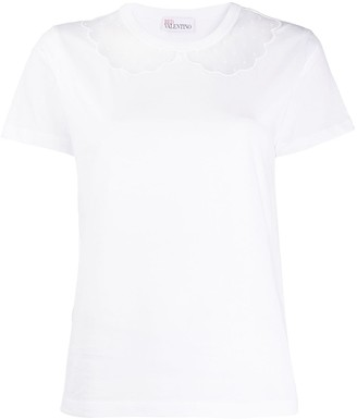 RED Valentino sheer detail T-shirt
