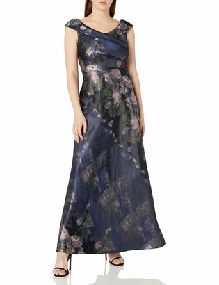 Ignite Women's Floral Printed Ballgown Dress