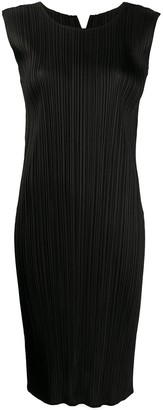 Pleats Please Issey Miyake Micro-Pleated Sleeveless Dress