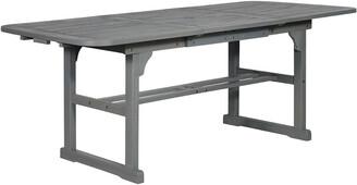 Hewson Outdoor Patio Acacia Wood Dining Table