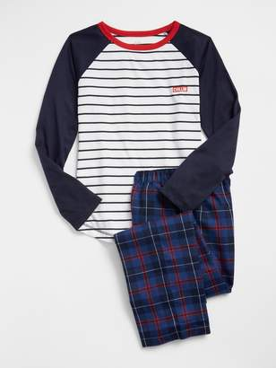 Gap Raglan Flannel PJ Set