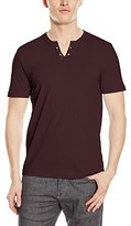 Kenneth Cole Reaction Men's Ss Eyelet Henley, Value Not Found
