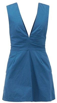 Kalita Lemuria Tie-back Cotton Playsuit - Navy