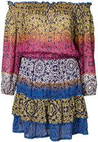 Nicole Miller colour block printed dress - women - Viscose - S