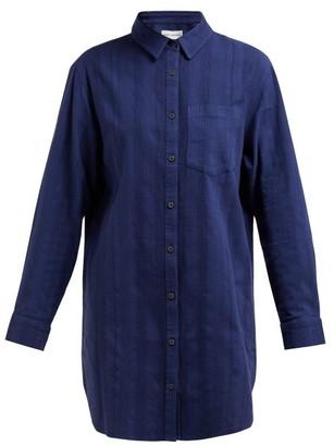 Mara Hoffman Bennett Striped Organic Cotton Shirt - Womens - Navy