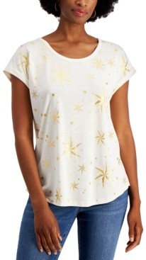 Style&Co. Style & Co Petite Whimsy T-Shirt, Created for Macy's