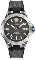Versace Tech Diver Stainless Steel, Leather & Rubber Strap Watch