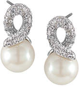 Carolee Earrings, Glass Pearl Knot Drop Earrings