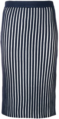 Victoria Victoria Beckham Striped Pencil Skirt