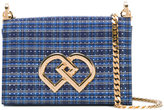 DSQUARED2 checked shoulder bag - women - Cotton/Crystal/metal - One Size