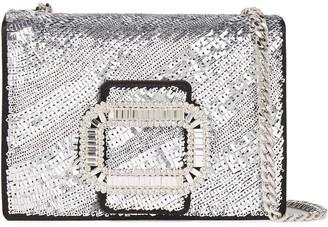 Roger Vivier Pilgrim Micro Embellished Sequined Satin Shoulder Bag