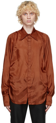 Bianca Saunders Orange Synched-Waist Shirt
