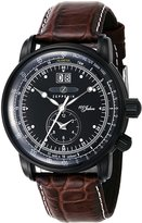 Zeppelin 【Amazon.co.jp Limited】 Men's Watch 100 anniversary model dial stainless (BKPVD) case Calf leather belt Date 76381