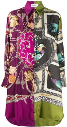 Salvatore Ferragamo heritage print shirt dress
