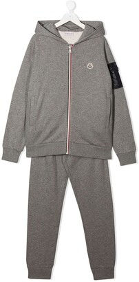 Moncler Enfant Two-Piece Embroidered Logo Tracksuit Set