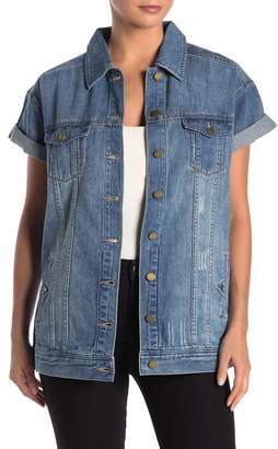 Liverpool Jeans Co Rolled Short Sleeve Denim Jacket