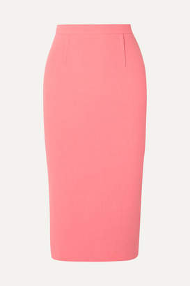 Roland Mouret Arreton Wool-crepe Pencil Skirt - Peach