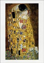 Gustav 1art1 Posters Klimt Poster Art Print - The Kiss, 1908 (39 x 28 inches)