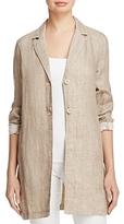 Eileen Fisher Organic Linen Notch Collar Jacket