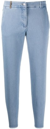 Peserico Cropped Slim Fit Jeans