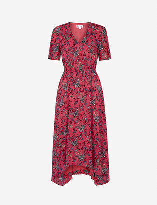 Claudie Pierlot Rabeliabise paisley-print crepe midi dress