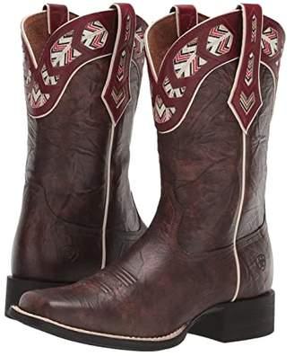 Ariat Round Up Monroe (Brown Crunch) Cowboy Boots