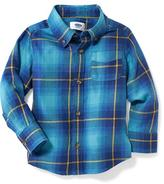 Old Navy Plaid Twill Shirt for Toddler