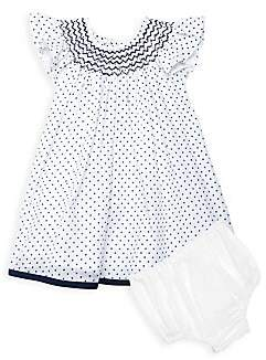 Isabel Garreton Baby Girl's 2-Piece Dotted Smocked Dress With Bloomers