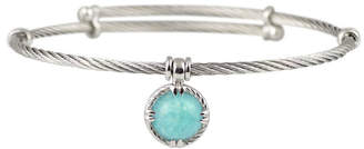 Alor Delatori By Silver & Stainless Steel Amazonite Bangle