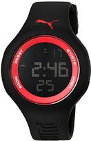 Puma 'PU91080 Drop' Quartz Plastic and Polyurethane Casual Watch, Color:Black (Model: PU910801046)
