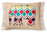 Mudhut Zaayan Applique Elephant Pillow Multicolored