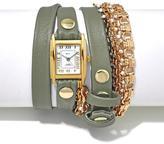 La Mer Pollara Goldtone and Beaded Chain Genuine Leather Wrap-Design Watch