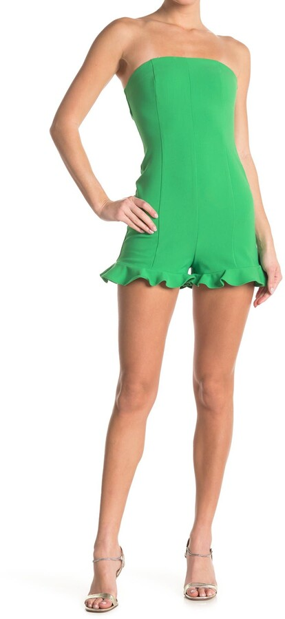 LIKELY Della Strapless Ruffled Romper
