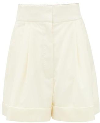 Françoise Francoise - High-rise Crystal-trim Wool Shorts - Cream