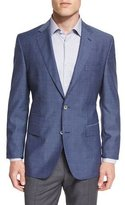 HUGO BOSS Hutsons Mini-Check Slim-Fit Wool Sport Coat, Navy