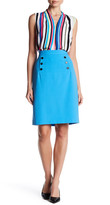 Nine West Button Detail Slim Skirt