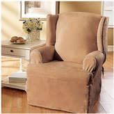 Sure Fit Soft Suede T-Cushion Wingback Slipcover