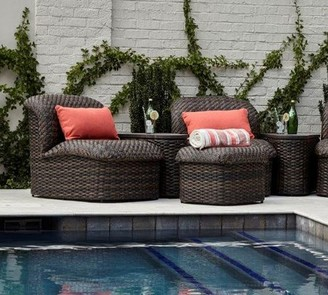 Pottery Barn Abrego All-Weather Wicker Sectional Ottoman