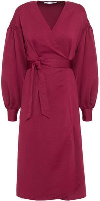 Samsoe & Samsoe Samse Samse Merrill Textured Satin-crepe Wrap Dress