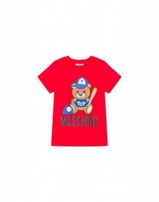 Moschino Baseball Teddy Bear T-shirt Unisex Red Size 4a It - (4y Us)
