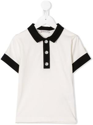Moncler Enfant Contrast-Trim Polo Shirt