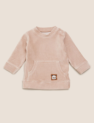 Marks and Spencer Cotton Cord Effect Velour Top (0-3 Yrs)