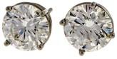Peter Suchy Platinum & 14k White Gold 4.42ct. Diamond Stud Earrings