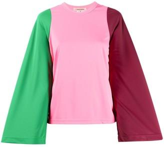 Comme des Garcons Tri-Colour Wide Sleeve Top