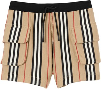 Burberry Ines Icon Stripe Shorts