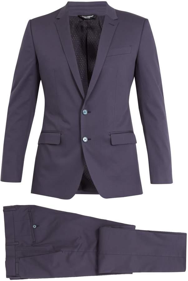 Dolce & Gabbana Martini peak-lapel stretch-cotton suit