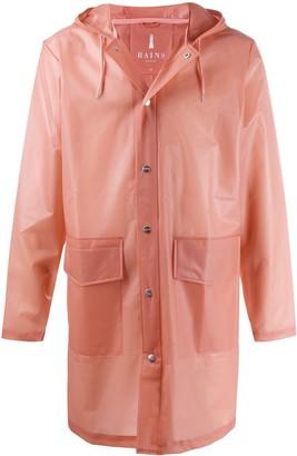 Rains Hooded Transparent Raincoat
