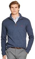 Polo Ralph Lauren Long Sleeve Half-zip Jersey Top, Navy Texture